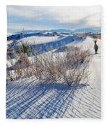 White Sands Shadows Fleece Blanket