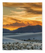White Sands Sunset - 4 - New Mexico Fleece Blanket
