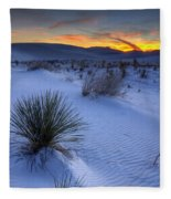White Sands Sunset Fleece Blanket