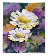 White Scabious Fleece Blanket