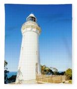 White Seaside Tower Fleece Blanket