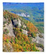White Side Mountain Fool's Rock In Autumn Vertical Fleece Blanket