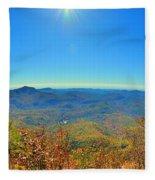 White Side Mountain Nantahala National Forest In Autumn Fleece Blanket