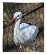 White Stork Fleece Blanket