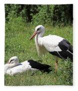 White Storks Fleece Blanket