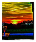White Sunset Fleece Blanket
