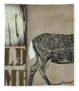 White Tail Deer Wild Game Rustic Cabin Fleece Blanket