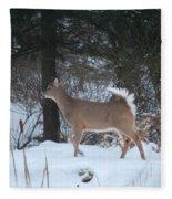 White Tail Fleece Blanket