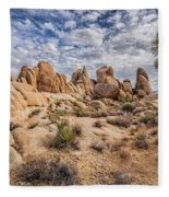 White Tank Rocks Fleece Blanket