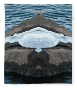 White-throated Dipper Mirrored Fleece Blanket