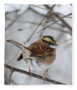 White Throated Sparrow 2 Fleece Blanket