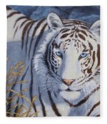White Tiger - Crystal Eyes Fleece Blanket