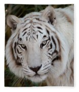 White Tiger Portrait Fleece Blanket