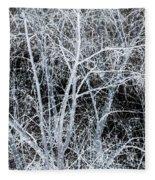 White Tree Black Night Fleece Blanket
