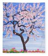 White Tree, Painting Fleece Blanket