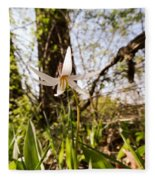 White Trout Lily Fleece Blanket