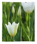 White Tulip Fleece Blanket
