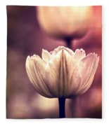 White Tulips Fleece Blanket