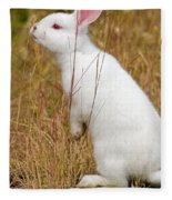 White Wabbit Fleece Blanket