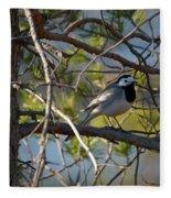White Wagtail 2 Fleece Blanket