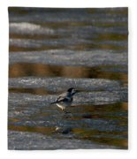 White Wagtail 4 Fleece Blanket