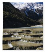 White Water River - Lijiang Fleece Blanket