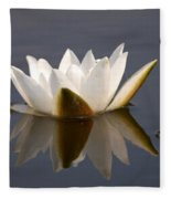 White Waterlily 2 Fleece Blanket