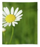 White Wild Flower Spring Scene Fleece Blanket
