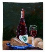 White Wine Fleece Blanket