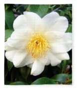 White-yellow Flower. Little Sun Fleece Blanket