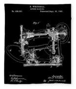 Whitehill Sewing Machine Patent 1885 Black Fleece Blanket