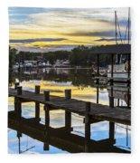 White's Cove Sunset Fleece Blanket