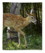 Whitetail Fawn Fleece Blanket