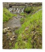 Whitewater Bridge And Dam Scene 13 Fleece Blanket