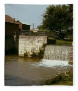 Whitewater Canal Locks Metamora Indiana Fleece Blanket