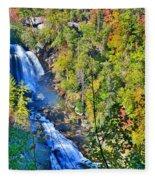 Whitewater Falls North Carolina Fleece Blanket