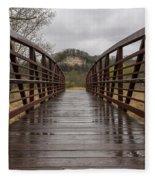 Whitewater Park Bridge Spring 4 Fleece Blanket
