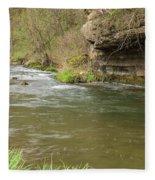 Whitewater River Spring 42 Fleece Blanket