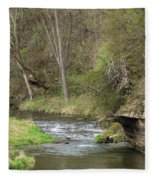 Whitewater River Spring 45 A Fleece Blanket