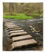 Whitewater River Spring 52 Fleece Blanket