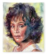 Whitney Houston Portrait Fleece Blanket