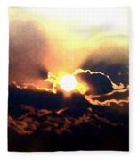 Who Has Kissed The Sun Fleece Blanket