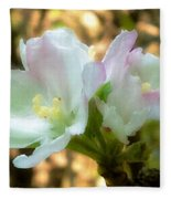 Who Here Has Seen Apple Blossoms In Late Summer Fleece Blanket