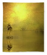 A Silent Autumn Morning Fleece Blanket
