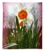Who Planted Those Flowers Fleece Blanket