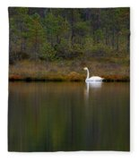 Whooper Swan  Fleece Blanket