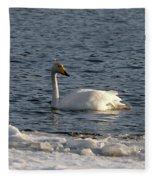 Whooper Swan Nr 3 Fleece Blanket