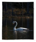 Whooper Swan Of Liesilampi 5 Fleece Blanket