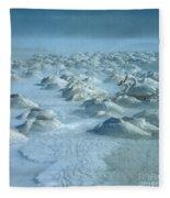Whooper Swans In Snow Fleece Blanket