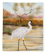 Whooping Cranes-jp3156 Fleece Blanket